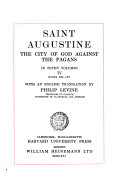 The City Of God Against The Pagans Book