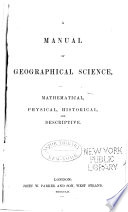 A Manual of Geographical Science