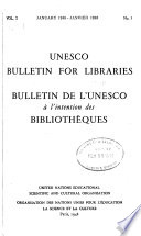 Unesco Bulletin for Libraries