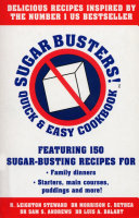 Sugar Busters  Quick   Easy Cookbook