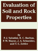 Evaluation of Soil and Rock Properties