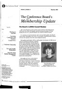 The Conference Board s Membership Update
