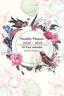 Monthly Planner 2020  2029 Notebook Diary