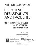 AIBS Directory of Bioscience Departments and Faculties in the United States and Canada Book