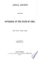 Message And Reports To The General Assembly And Governor Of The State Of Ohio For The Year