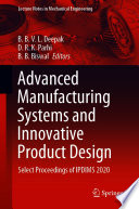 Advanced Manufacturing Systems and Innovative Product Design