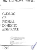 Catalog of Federal Domestic Assistance Book