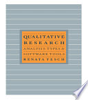 Qualitative Research  Analysis Types and Software Book