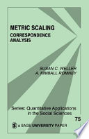 Cover image of Metric scaling : correspondence analysis