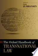 The Oxford Handbook Of Transnational Law