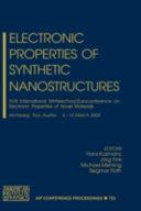Electronic Properties of Novel Nanostructures Book