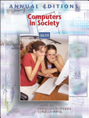 Annual Editions Computers In Society 08 09 Book PDF