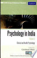 Psychology In India Volume 3  Clinical And Health Psychology