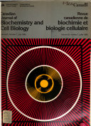 Canadian Journal of Biochemistry and Cell Biology Book