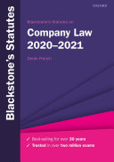 Blackstone s Statutes on Company Law 2020 2021