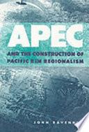 APEC and the Construction of Pacific Rim Regionalism Pdf/ePub eBook