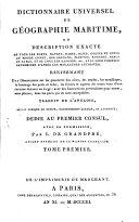 Dictionnaire universel de geographie maritime