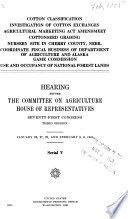 Hearing[s] Before the Committee on Agriculture, House of Representatives, Seventy-first Congress, First[-third] Session