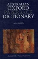 Australian Oxford Paperback Dictionary