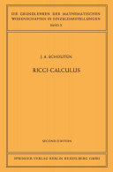 Ricci Calculus
