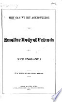 Why Can We Not Acknowledge the Smaller Body of Friends in New England?