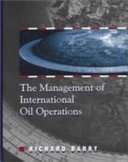 The Management of International Oil Operations