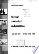 Publications On Foreign Countries An Annotated Accession List