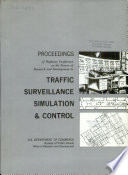 Proceedings Of Highway Conference On The Future Of Research And Development In Traffic Surveillance Simulation And Control September 14 15 1964 Washington D C