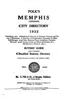 Polk s Memphis  Tennessee  City Directory