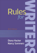 Rules For Writers With Writing About Literature Tabbed Version  Book PDF