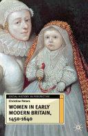 Women in Early Modern Britain, 1450-1640