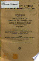 Independent Offices Appropriations for 1961 Book