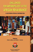 Challenges for Anthropology in the  African Renaissance