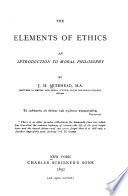 The Elements of Ethics Book