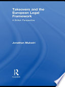 Takeovers and the European Legal Framework Book