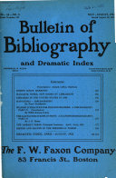 Bulletin of Bibliography and Dramatic Index