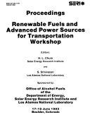 Renewable Fuels and Advanced Power Sources for Transportation Workshop