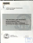 The Natural Gas Research Development And Demonstration Program Proposed Program Plan And Funding Request For Fiscal Year 2014 15 Book PDF