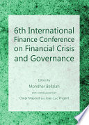 6th International Finance Conference on Financial Crisis and Governance Book