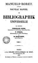 Nouvean Manuel de Bibligraphie Universelle, 1
