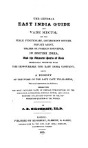 The General East India Guide and Vade Mecum