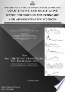 Proceedings of the 2nd International Conference: Quantitative and Qualitative Methodologies in the Economic and Administrative Sciences