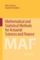 Mathematical and Statistical Methods for Actuarial Sciences and Finance