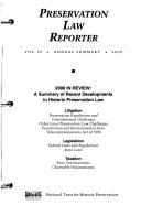 Preservation Law Reporter