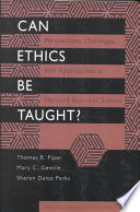 Can Ethics be Taught?