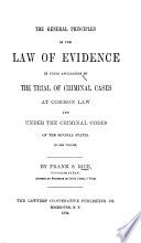 The General Principles of the Law of Evidence