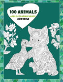 Adult Coloring Books Zendoodle   100 Animals
