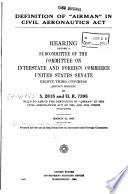 Definition Of Airman In Civil Aeronautics Act