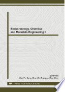 Biotechnology Chemical And Materials Engineering Ii Book PDF