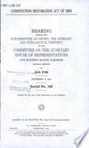 Constitution Restoration Act of 2004